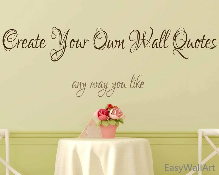 Create Your Own Wall Decal   Custom Wall Decals Quotes, Custom Vinyl  Letters, Custom Part 63