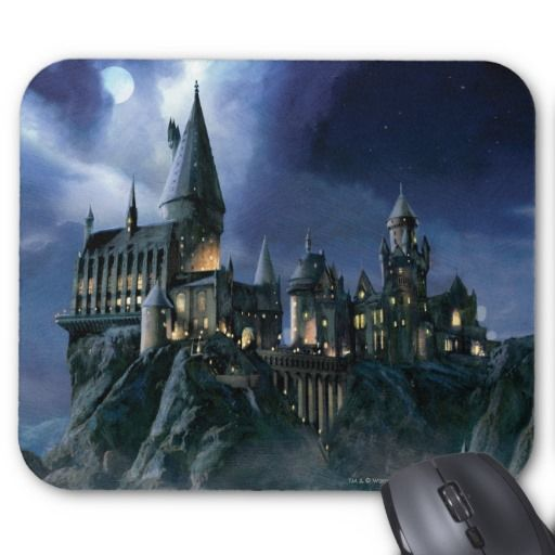 harry potter castle moonlit hogwarts mouse pad zazzle on office wall colors 2021 id=27341