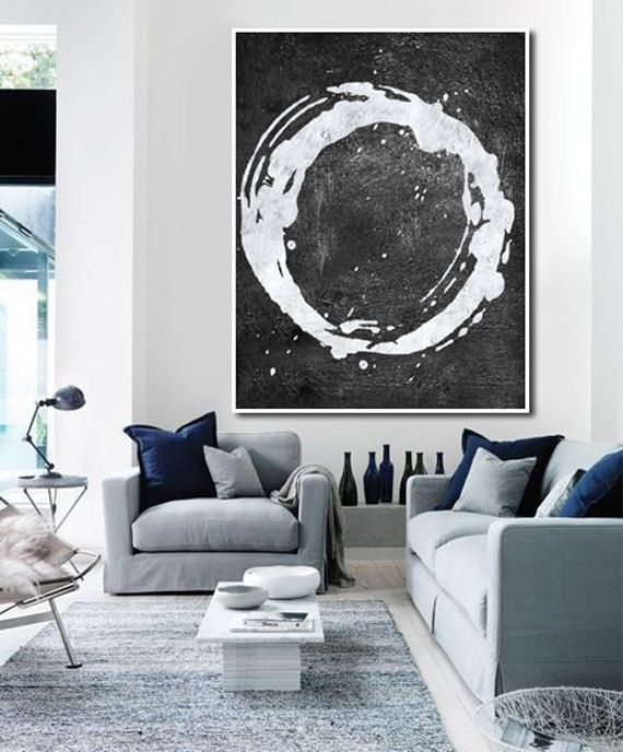 Large Abstract Art Hand Painted Oil Painting by FabuArtDecor