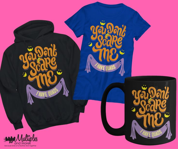 Gifts Halloween for Parents of Quadruplets, Twins and Triplets. Check out our range of Hoodies, Mugs and Tee Shirts.
