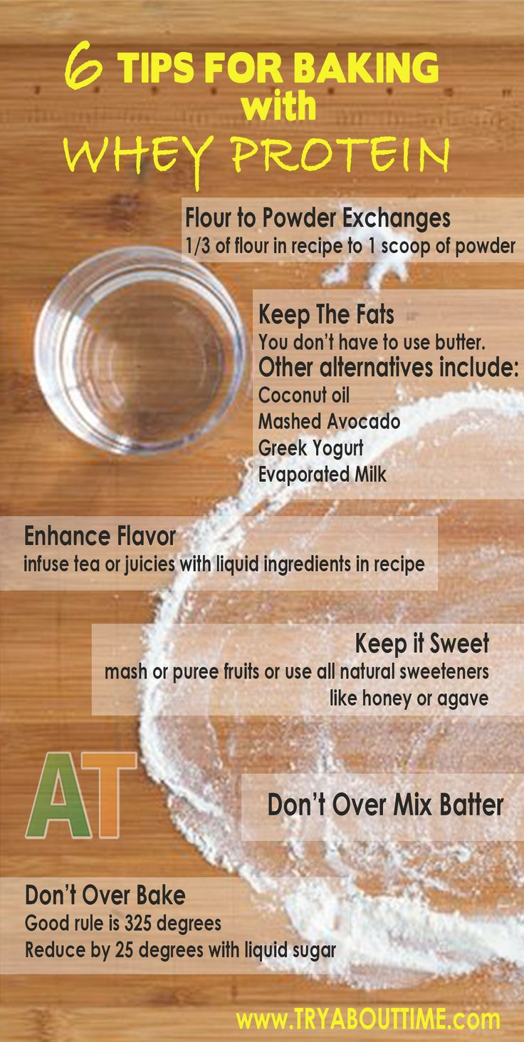 6 Tips for baking with whey protein to help you make the perfect alternatives to your favorite sweet treats without sacrificing taste.