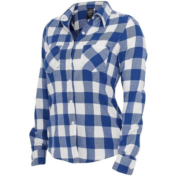 Urban Classics Ladies Hemd Checked Flanell Shirt, TB388 royal... ($21) ❤ liked on Polyvore featuring tops, shirts, long sleeves, blusas, henley tops, shirts & tops, blue checked shirt, checkered shirt and long sleeve tops
