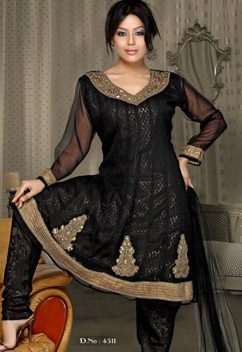 Black Designer Salwar Kameez