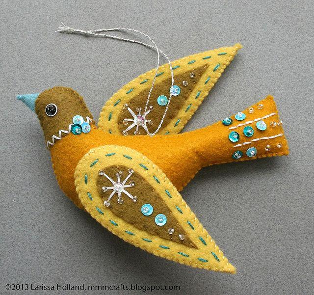 Snow Bird felt ornament | Flickr - Photo Sharing!