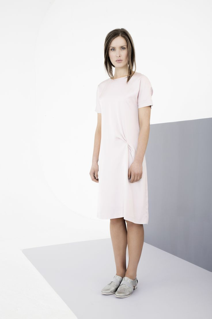 Pastel dress with gathered waist detail by Carolyn Donnelly The Edit