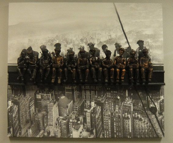 Lunch atop a Skyscraper,Sculpture,BRONZE w/Giclee —