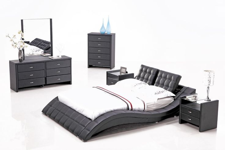Black Contemporary Bedroom Set Custom Inspiration Design
