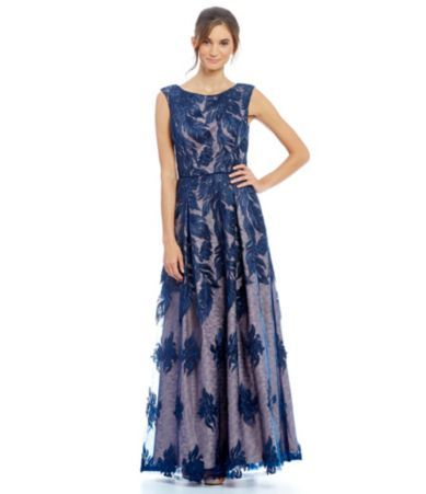 Shop for Aidan Mattox Illusion Lace Fit-and-Flare Ball Gown at Dillards.com. Visit Dillards.com to find clothing, accessories, shoes, cosmetics & more. The Style of Your Life.