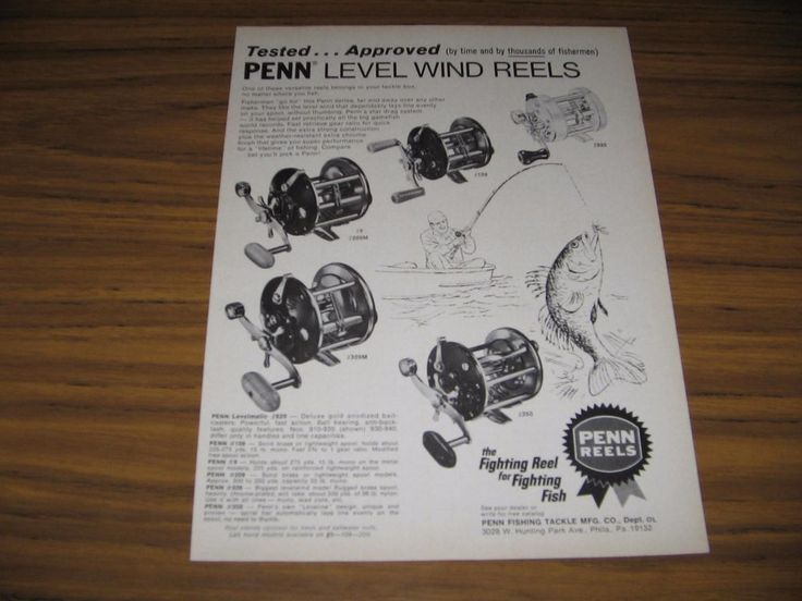 1976 Print Ad Penn Fishing Reels 5 Models Shown Philadelphia,PA #MagazineAd