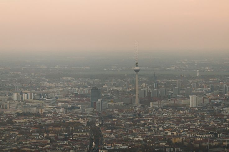 Berlin from above. Alexanderplatz. East Berlin