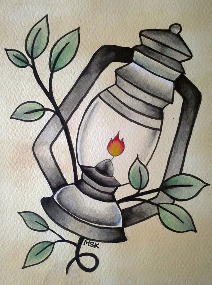 Traditional tattoo ' Lantern ' by ~Psychoead on deviantART