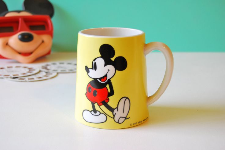 Mickey Mouse Musical Mug. Disney Collectibles. Schmid Bros Musical Mug. Ceramic Mug With Music Box. Disneyana. Plays Mickey Mouse Club Song. by AntVillage on Etsy