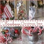 CONFESSIONS OF A PLATE ADDICT: A Farmhouse Christmas Tree with Embarrassingly Easy DIY Galvanized Stars