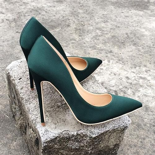 Silk Higher Ladies Attractive Excessive Heels Elegant Girl Pointed Toe