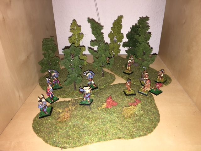Ork Miniatures in Forest