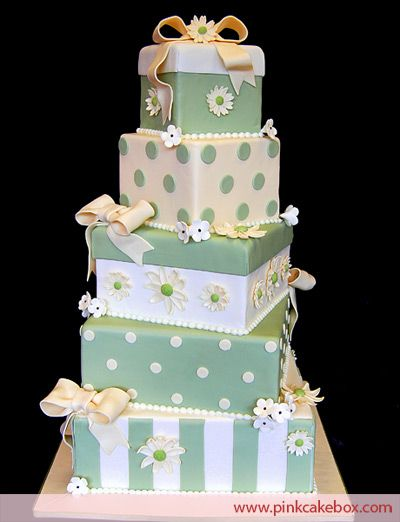 Gift Box Wedding Cake - Have I pinned one like this already? I don't know . . . HELP THEY'RE ALL STARTING TO LOOK THE SAME!