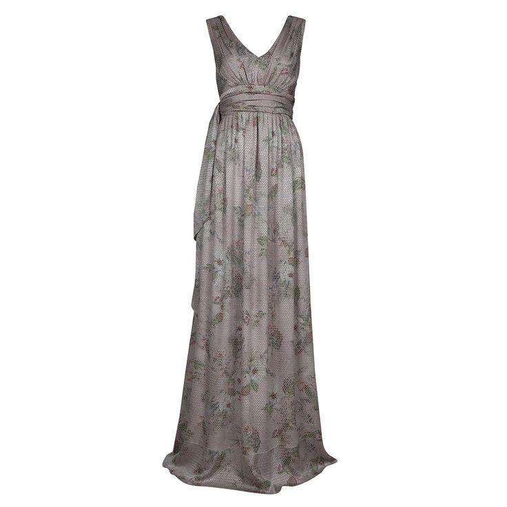 Φόρεμα Maxi σε Fil Coupe' Ύφασμα   Lola.gr