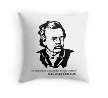 $16.68-$33.37 Throw Pillow G. K. Chesterton #quote An inconvenience is an #adventure wrongly considered, #Gilbert #Keith #Chesterton, #English #writer, #poet, #philosopher, dramatist, #journalist, orator, lay theologian, biographer, and literary and #art #critic