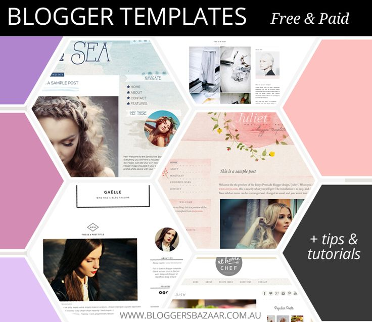 A great range of feminine, sleek and clean Blogger templates, both free and paid varieties. You will find one you love from one of these designers.