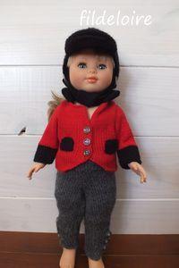 Tenues pour la poupée Marie-Françoise de Petit collin dite aussi Modes et travaux 40 cm – fildeloire