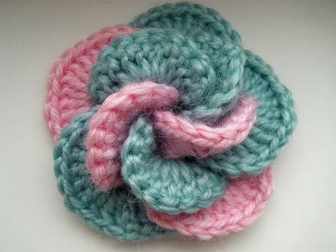 Crochet flower. Tutorial. - YouTube