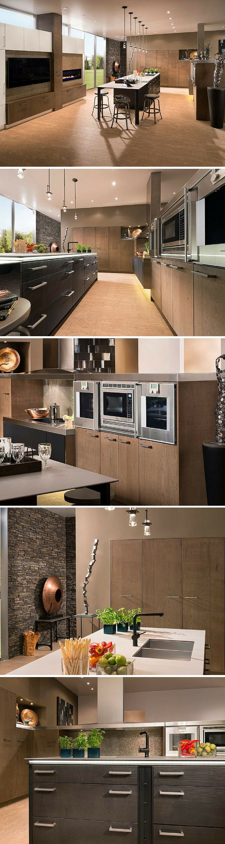 modern spacious kitchen by wood mode
