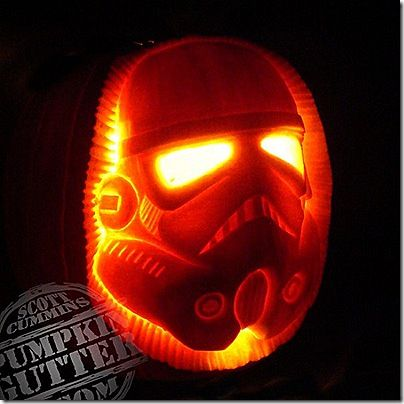 Stormtrooper Pumpkin Carving //