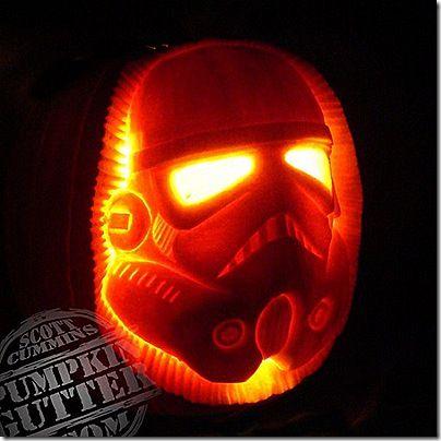 Stormtrooper Pumpkin Carving //