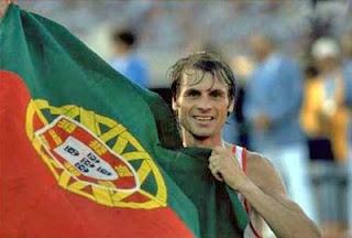 Carlos Lopes - medalha de ouro na maratona de los Angeles 1984