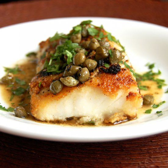 Simple Cod Piccata- my go-to cod recipe. My whole family and all my friends just love it!