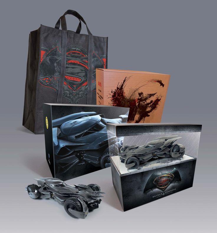 FabGearUSA - Batmobile - Batman vs Superman Display  , $149.95 (http://www.fabgearusa.com/batmobile-batman-vs-superman-display/)
