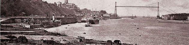 El primer puente colgante en Descubre Getxo