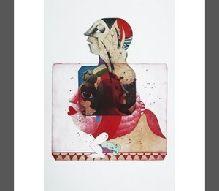 13-Mehmet UYGUN (1964) Tek baskı, sanatçı müdahaleli. 2005 tarihli. 50 x 35 cm