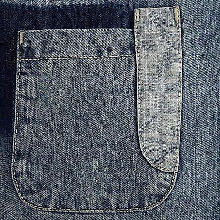 Mid wash mixed patchwork denim shirt - denim shirts - shirts - men