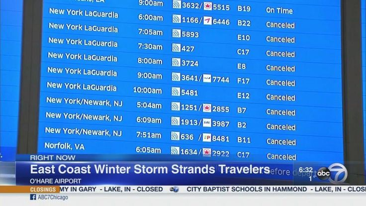 Flights canceled at O'Hare, Midway airports due to East Coast storm - WLS-TV