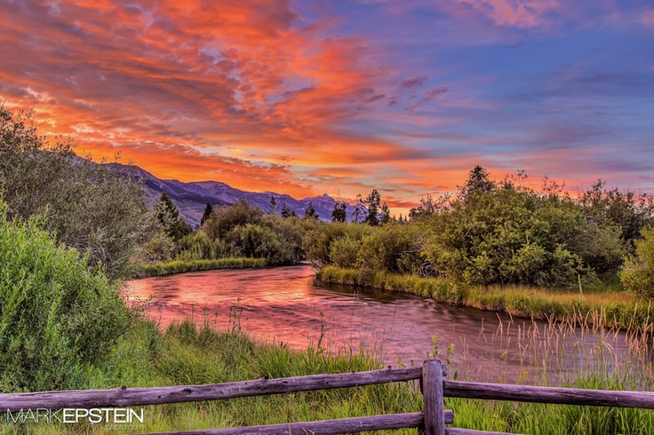 Pine Creek Moment    An amazing summer sunset brings the end to the day near Jackson, Wyoming.