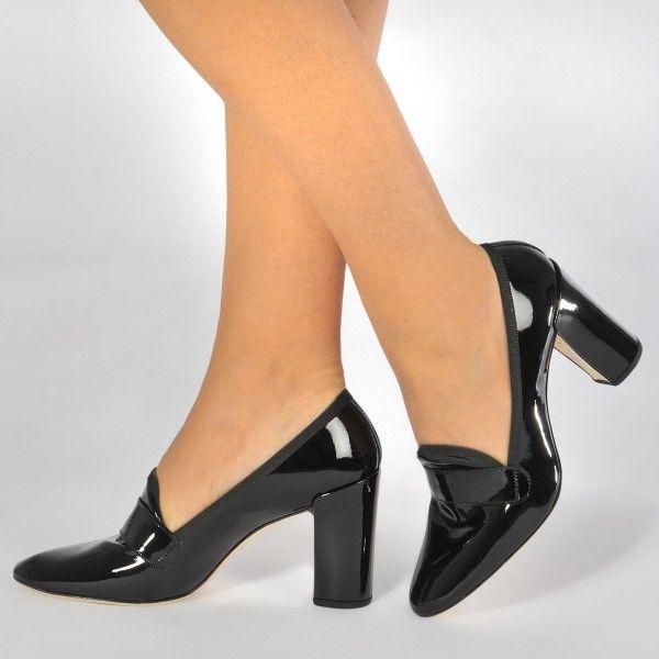 Heels, Heeled loafers, Leather block heels