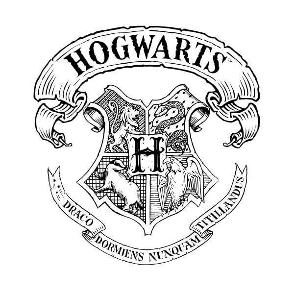 Harry Potter Hogwarts Crest Women S T Shirt White 3xl White Harry Potter Coloring Pages Harry Potter Colors Harry Potter Coloring Book