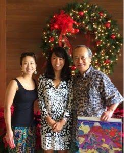 さとうあつこのハワイ不動産: 巨匠 絹谷幸二さんと若手女流水墨画家 絹谷香菜子さん