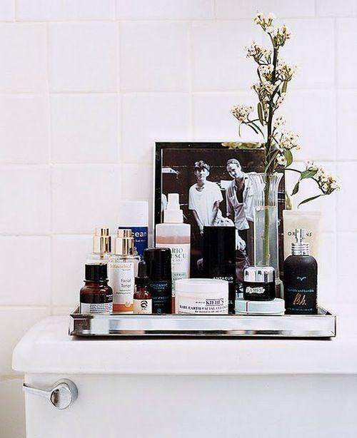 styley use of spaceBathroom Design, Decor, Trays, Small Bathroom, Bathroom Storage, Toilets, Bathroom Ideas, Bathroom Organic, Storage Ideas