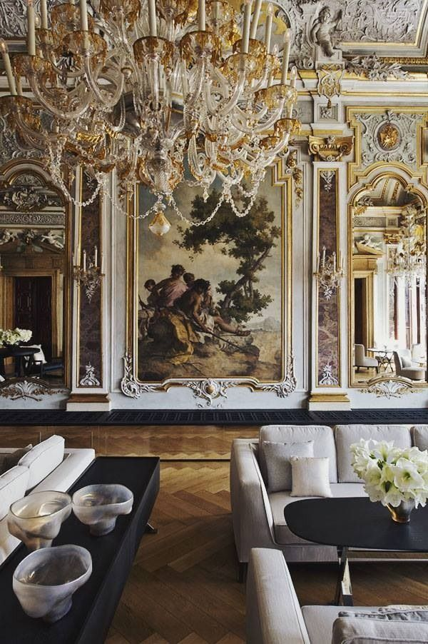 aman canale grande hotel, venice, italy - originally a century Palazzo with  later Baroque and Rococo interiors
