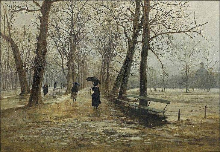 The Saxon Garden in Warsaw, 1887, Aleksander Gierymski