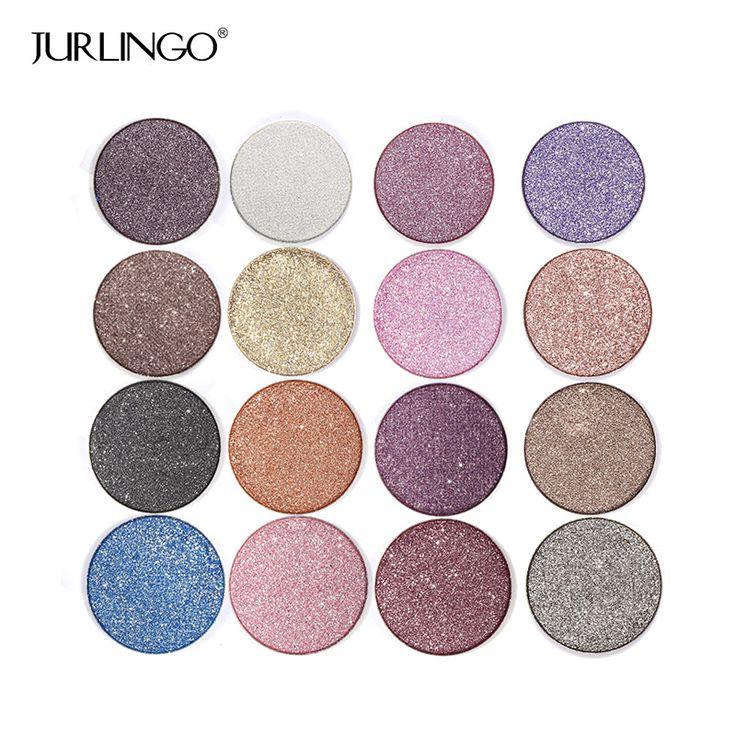 Profesional diamond shimmer sombra de ojos paleta de maquillaje a prueba de agua pigmento de sombra de ojos con pincel de maquillaje cosméticos fijaron por jurlingo