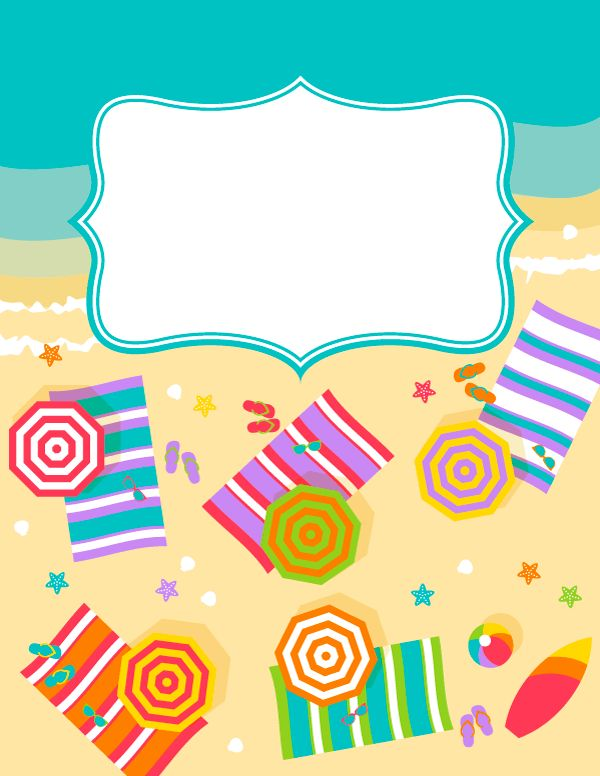 Free printable beach binder cover template. Download the cover in JPG or PDF format at http://bindercovers.net/download/beach-binder-cover/