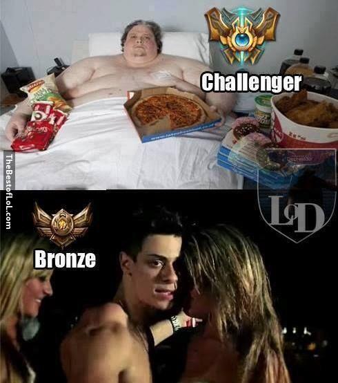 I'm bronze because I prefer bronz..