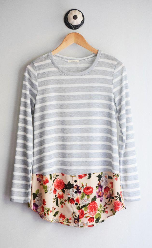 Stripe + Floral Tunic