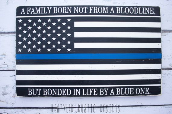 Thin Blue Line Flag Police Officer Gift by RestyledRusticDeSIGN