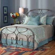Lafayette Cast Bed - Queen Size Natural Steel