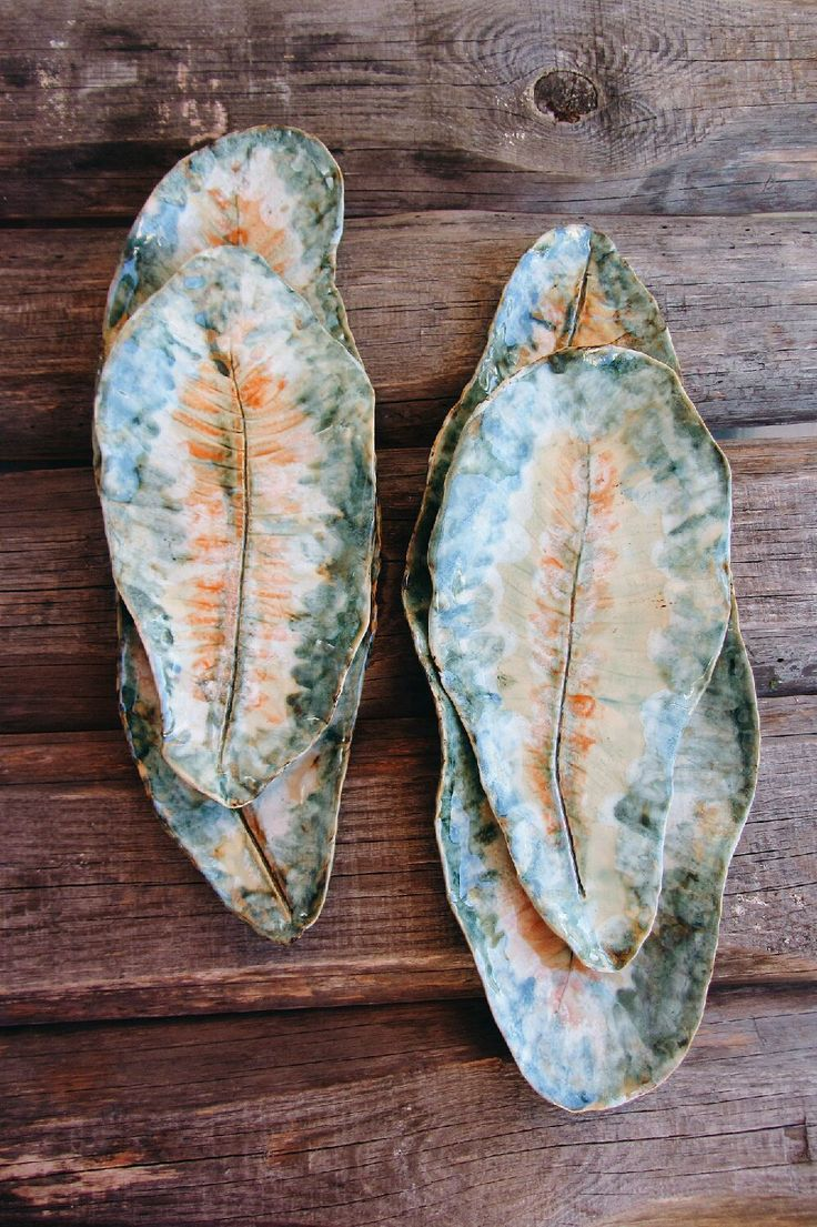 Купить Сказочные листья. Блюда для сервировки - блюда, папоротник, сервировочные блюда, Праздник, подарок