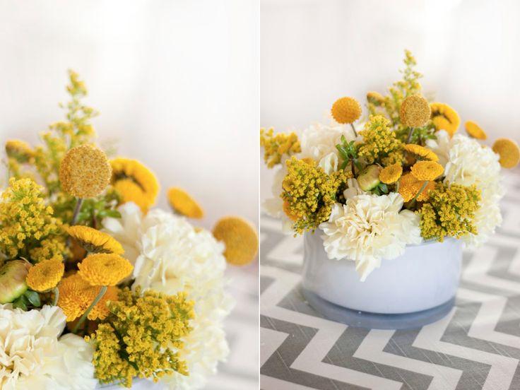 Modern Yellow Wedding Centerpiece Utah R City Flowers Calie Rose
